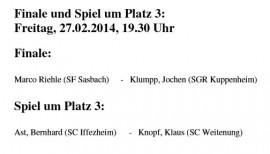 Jochen Klumpp im Pokal-Finale