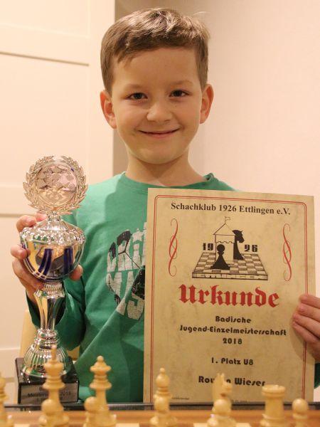 Rouven Wieser badischer U8-Meister!