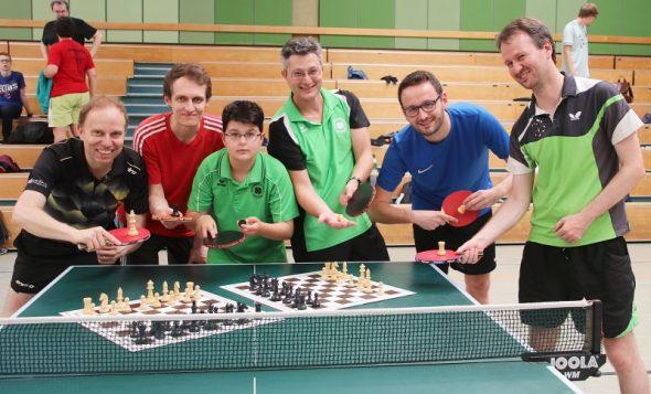 Rosner/Metz gewinnen Schach-Tischtennis-Turnier